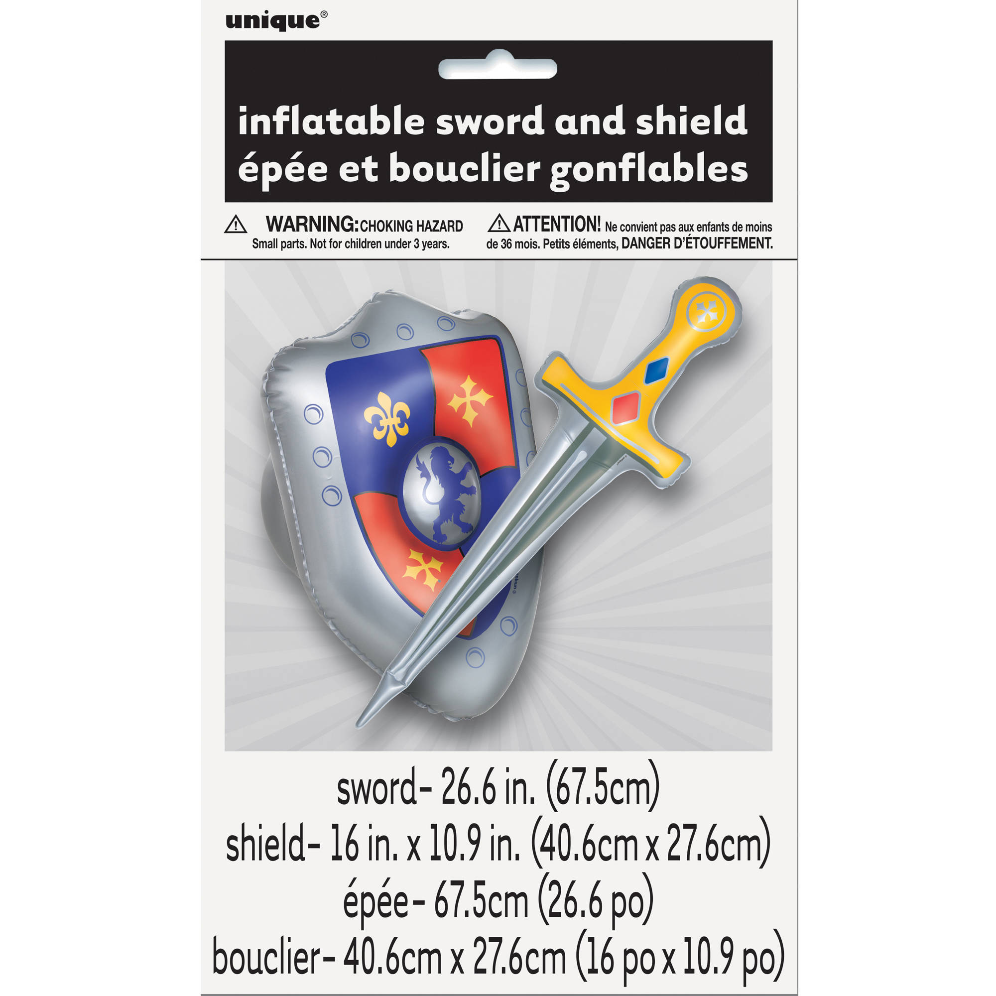 Inflatable Sword and Shield, 2pc