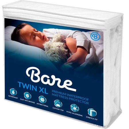 Bare Home Twin XL Size Premium Mattress Protector - 100% Waterproof - Vinyl Free Hypoallergenic - 10 Year Warranty - (Twin XL, White)