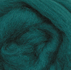 Wistyria Editions Ultra Fine 12 Wool Roving .22 Oz: Teal Multi-Colored