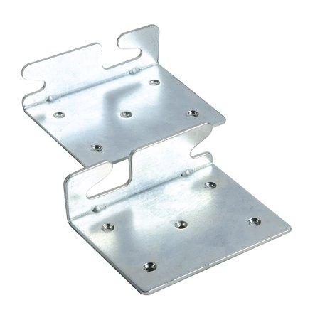 BedClaw Angled Retro-Hook Plates, Set of 2 with hardware, Attaches wood bed rails to headboard or footboard with right angle mounting construction By Bed -