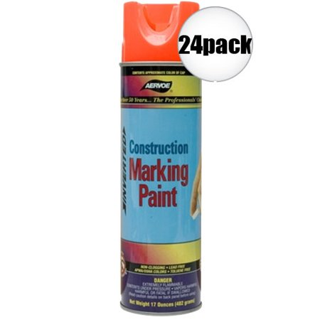 (Aervoe 247 17oz Fluorescent Orange Construction Writing Marking Paint 24-Pack)
