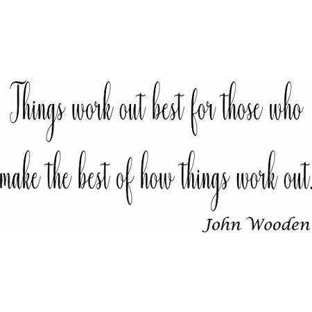 Things Work Out Best for Those Who Make the Best of How Things Work Out 11 x 14 Vinyl Wall Art Decal by Scripture Wall Art. Girls Room Decor, Great Gift, Girls Wall (Best Gift For Engagement To Girl In India)