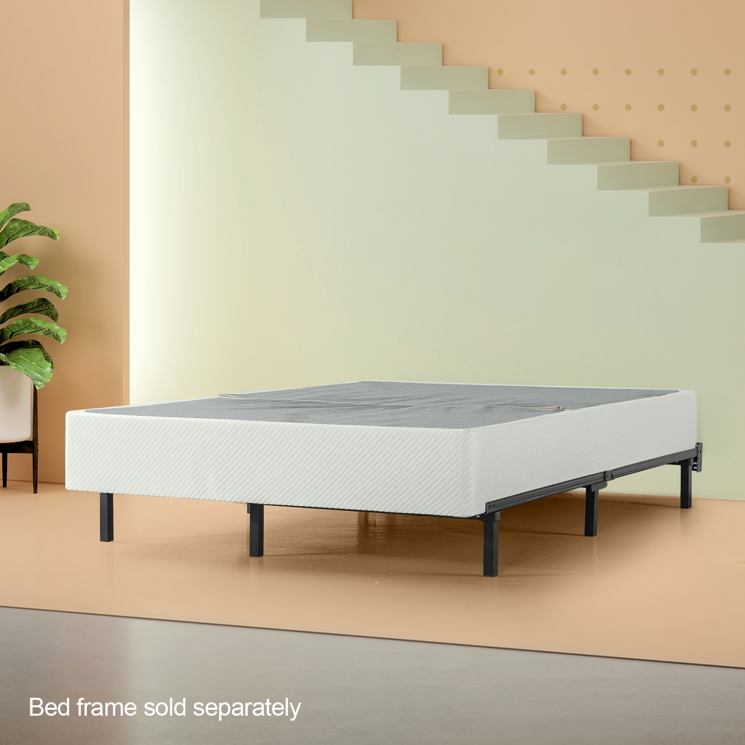 "Zinus Denise Deluxe 9"" BiFold Box Spring, Mattress Foundation"