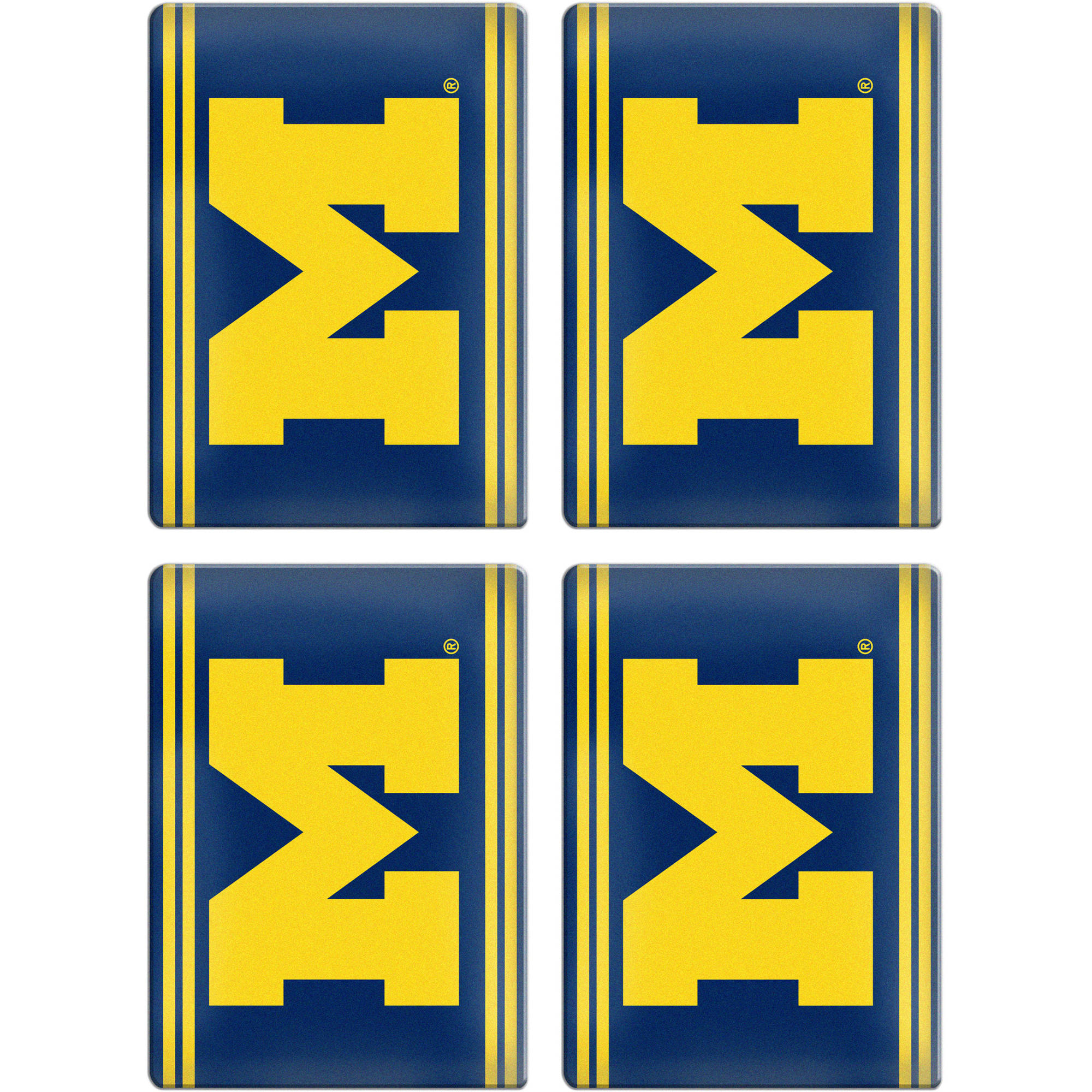 NCAA Michigan Wolverines 4-Pack Ceramic Magnet