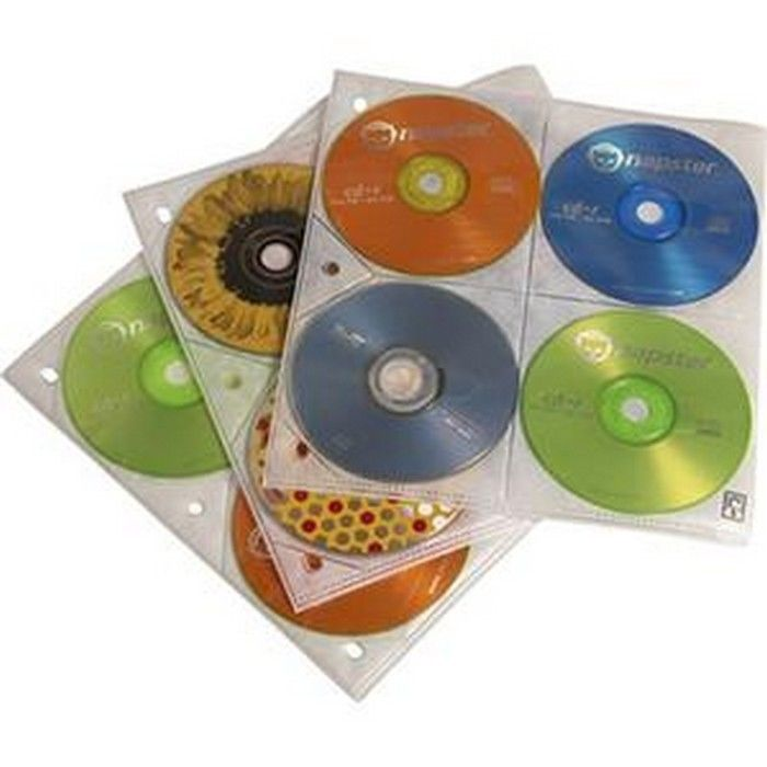 Case Logic Cdp-200 Plastic 200 Capacity CD Album Refill Pages Slide Insert Clear