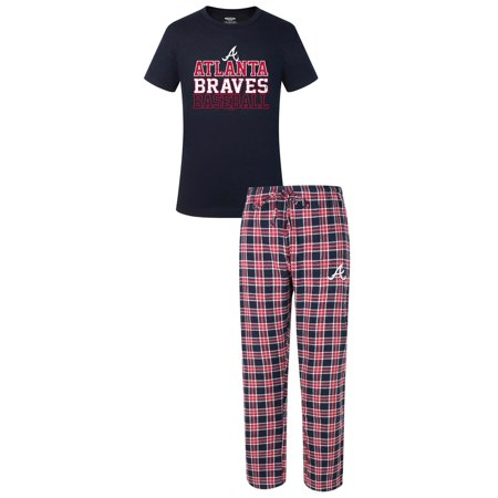 "Atlanta Braves MLB ""Medalist"" Mens T-shirt & Flannel Pajama Pants Sleep Set by"