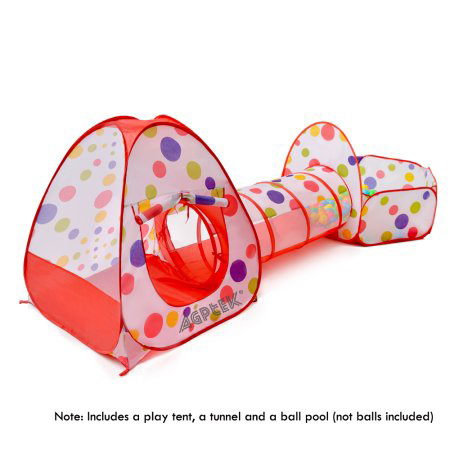 ODOLAND 3-IN-1 Pop-Up Children Play Tent Multipurpose Play Tent w/ Zipper Storage Bag