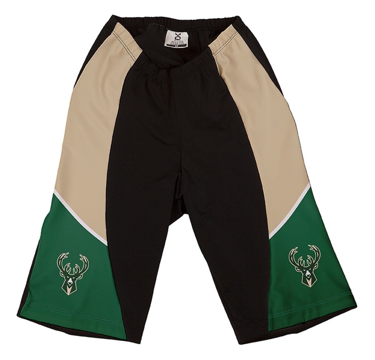 VOmax Womens Comfortable NBA Milwaukee Bucks Cycling Shorts (S, Fitted)