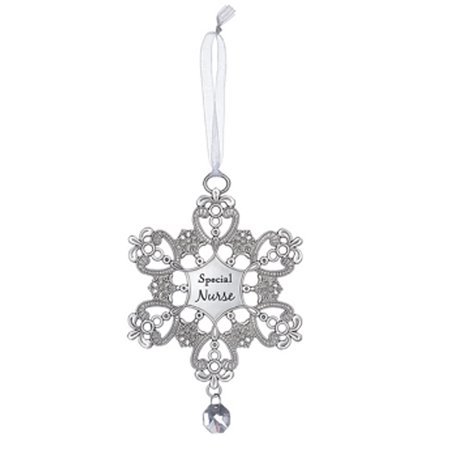 Special Nurse Snowflake Christmas Tree Ornament - By -