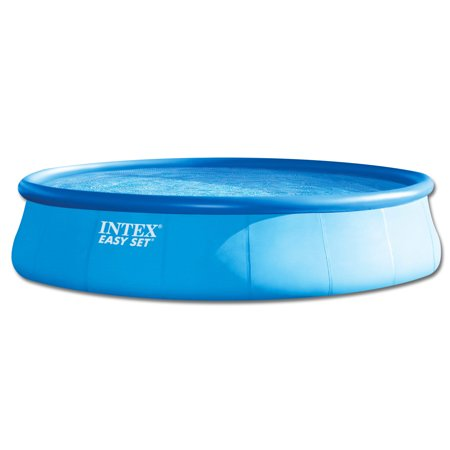 intex 18ft round easy set deluxe swimming pool. Black Bedroom Furniture Sets. Home Design Ideas