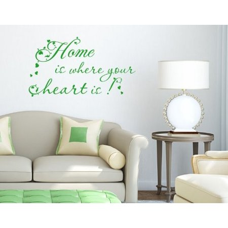 home is where your heart is wall decal - wall decal, sticker, mural