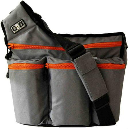 Diaper Dude Bag Gray And Orange