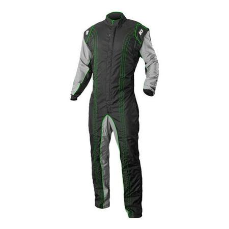 k1 racegear 10-gk2-v-4xs cik-fia level 2 approved gk2 level 2 kart racing suit - green - (Kart Racing Suits)