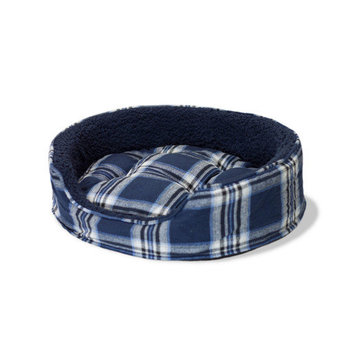 FurHaven Snuggle Terry and Plaid Pet Bed