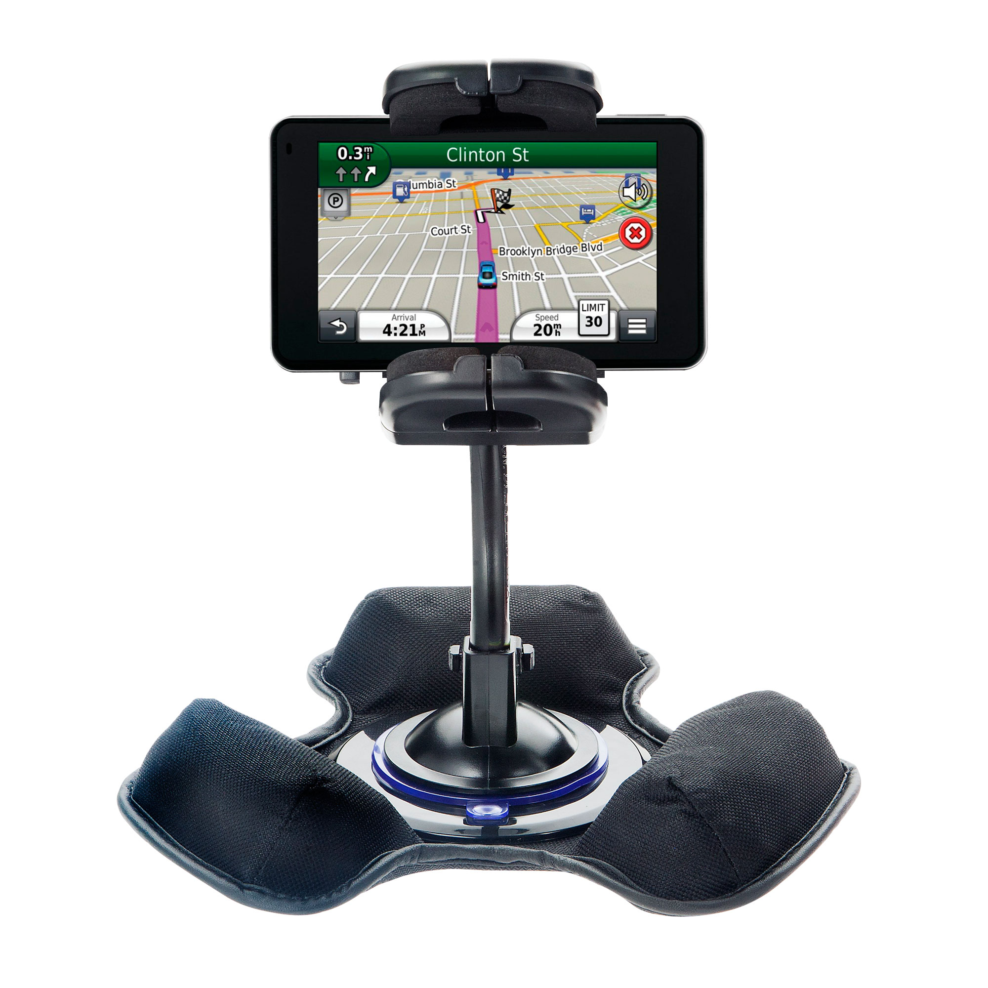 Car / Truck Vehicle Holder Mounting System for Garmin Nuvi 3450 3450LM Includes Unique Flexible Windshield Suction and Universal Dashboard Mount Options