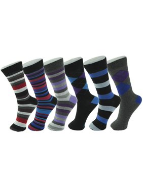 fced4755d Product Image Alpine Swiss 6 Pack Mens Cotton Dress Socks Mid Calf Argyle  Pattern Solids Set