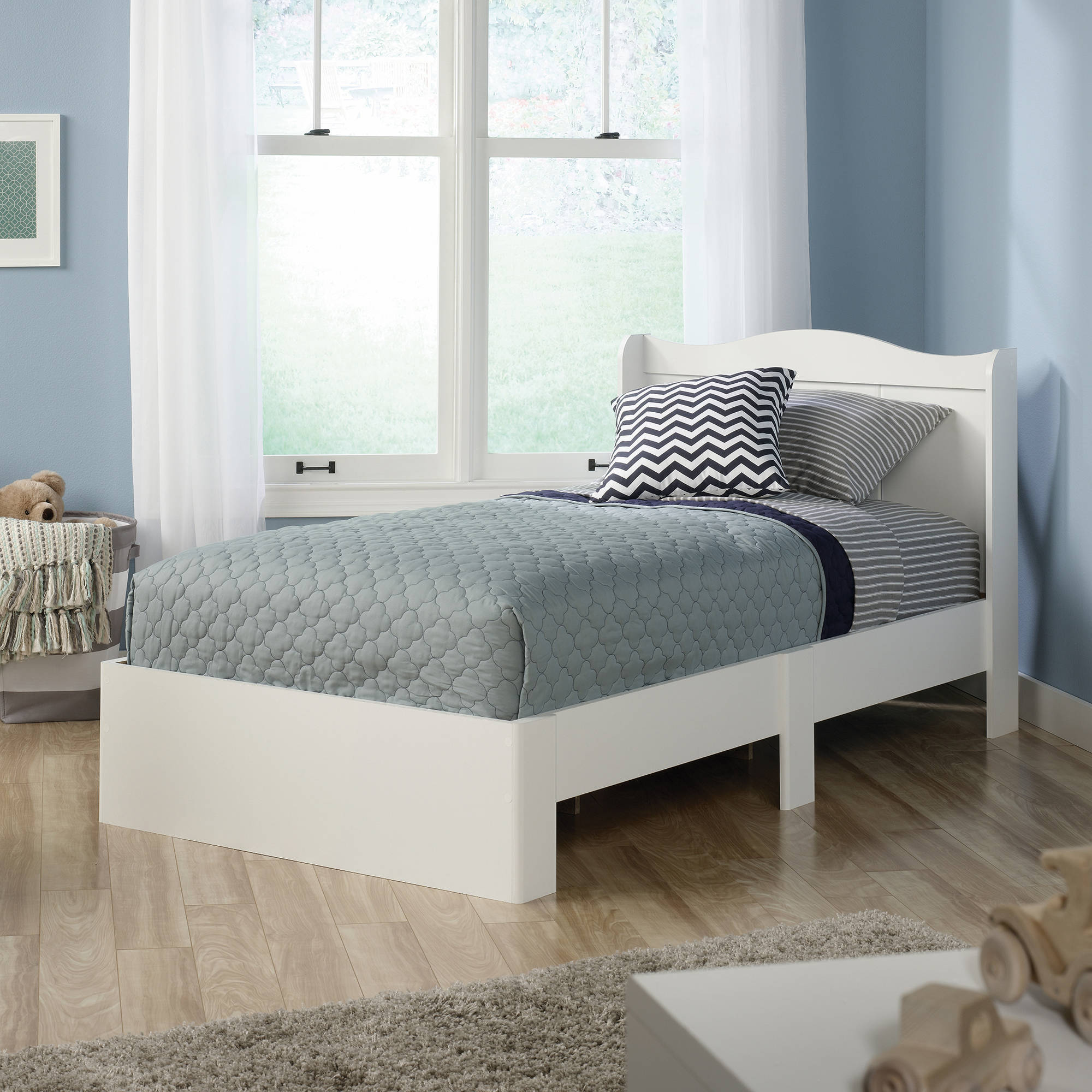 sauder storybook twin mates bed, soft white  walmart, Headboard designs