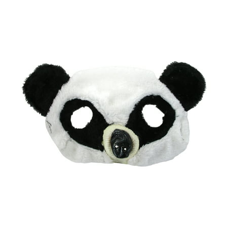 Plush Panda Bear Zoo Animal Half Eye Mask Halloween Costume Accessory](Metro Zoo Halloween)