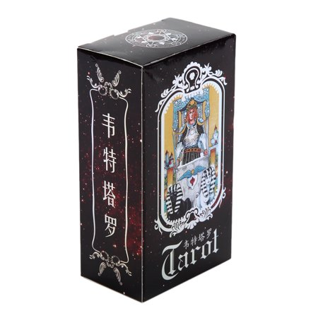 HURRISE Tarot Cards Deck Vintage 78 Cards Rider Waite Future Telling Game with Colorful Box ()