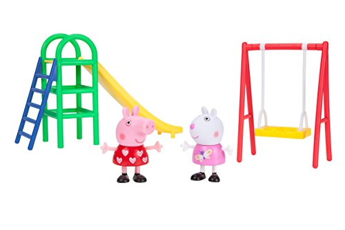 PEPPA PIG PLAYGROUND /& FIGURE PEPPA/'S OUTDOOR FUN SLIDE SEE-SAW OR SWING NEW