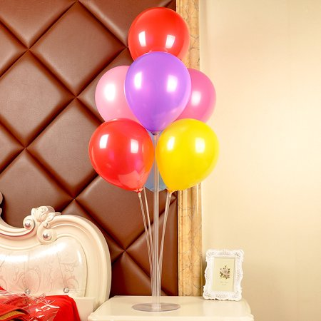 Jeobest Balloon Support Holder - Balloon Stand Kit - Table Balloon Stand Kit - Table Balloon Holder - Balloon Column Base Plastic Balloons Stand Balloon Holder Stand for Wedding Birthday Party MZ