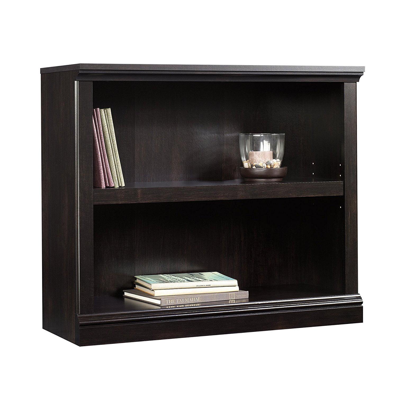 2-Shelf Bookcase Estate, Black, Fast shipping,Brand Sauder by