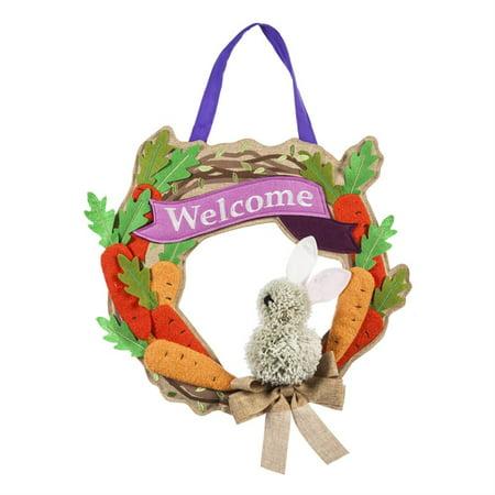 Evergreen Door Decor - Bunny Wreath ()