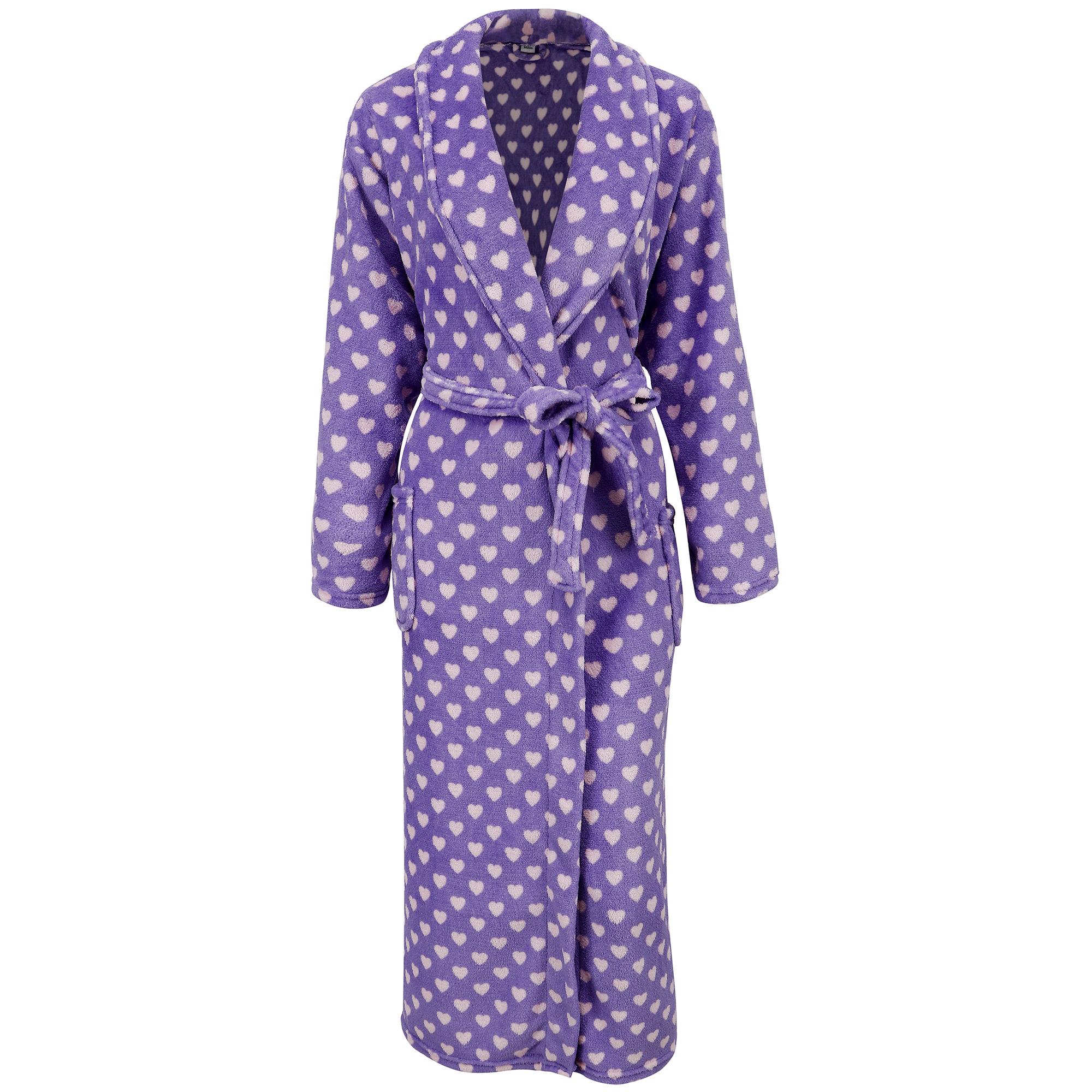 Women's Winter Warm Fleece Plush Kimono Bathrobe with Poc...