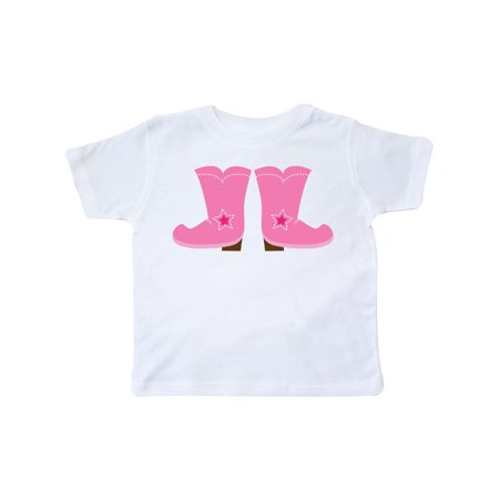 Cowgirl Pink Boots Toddler T-Shirt](Cowgirl Items)