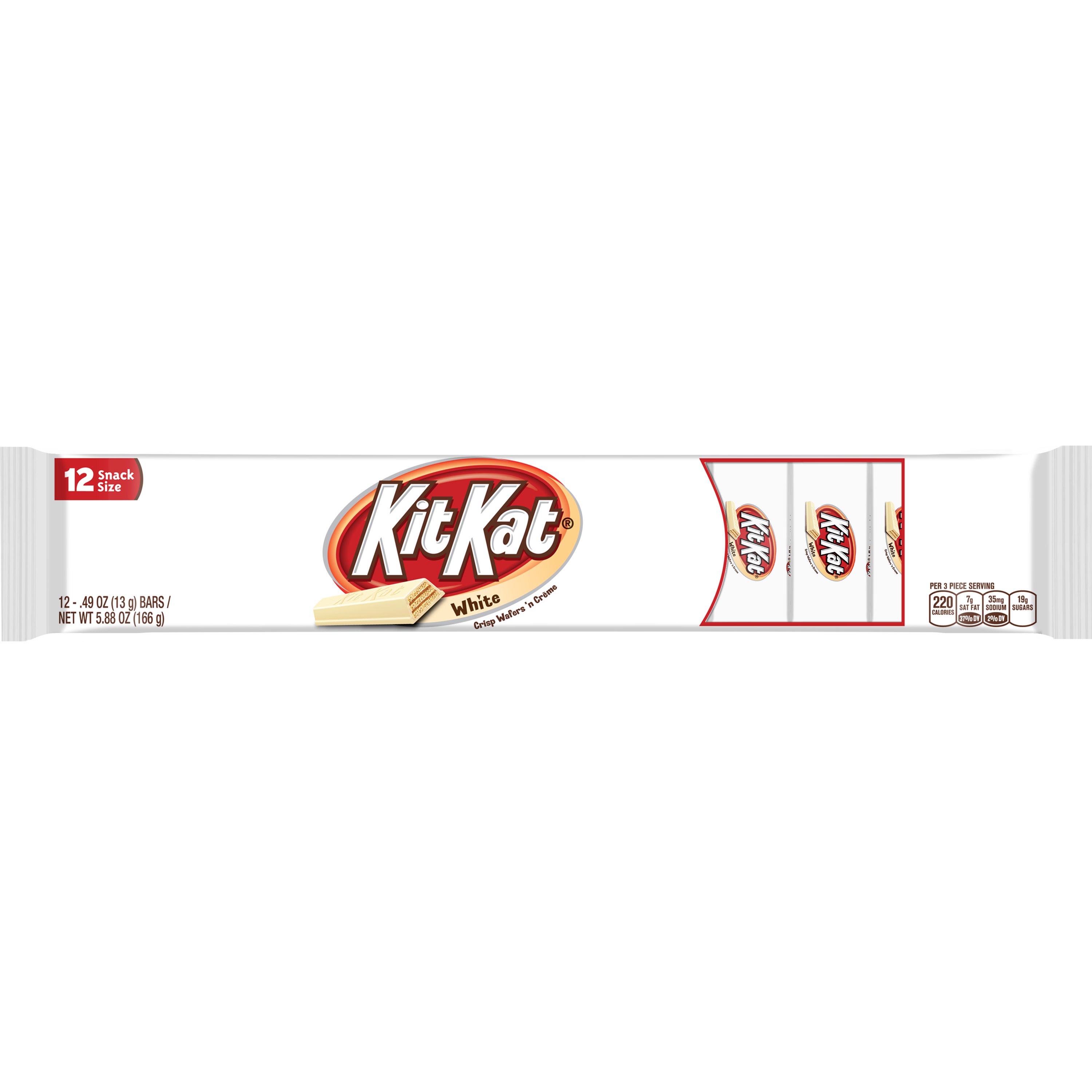 Kit Kat White Snack Size, 12 - 0.40 oz bars