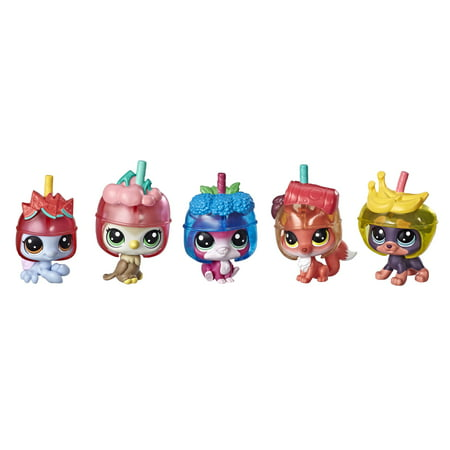 Littlest Pet Shop Slushie Squad Pack, includes 5 pets & 5 accessories