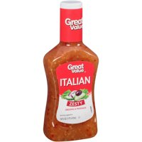 Great Value Zesty Italian Dressing & Marinade, 16 oz, 4 Pack
