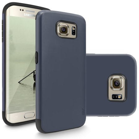 Galaxy S6 Edge Plus Case, Cellularvilla [Slim Fit] Heavy Duty Dual Layer Protective Cover [Matte Finish] Tough Armor Shockproof Case for Samsung Galaxy S6 Edge Plus / S6 -