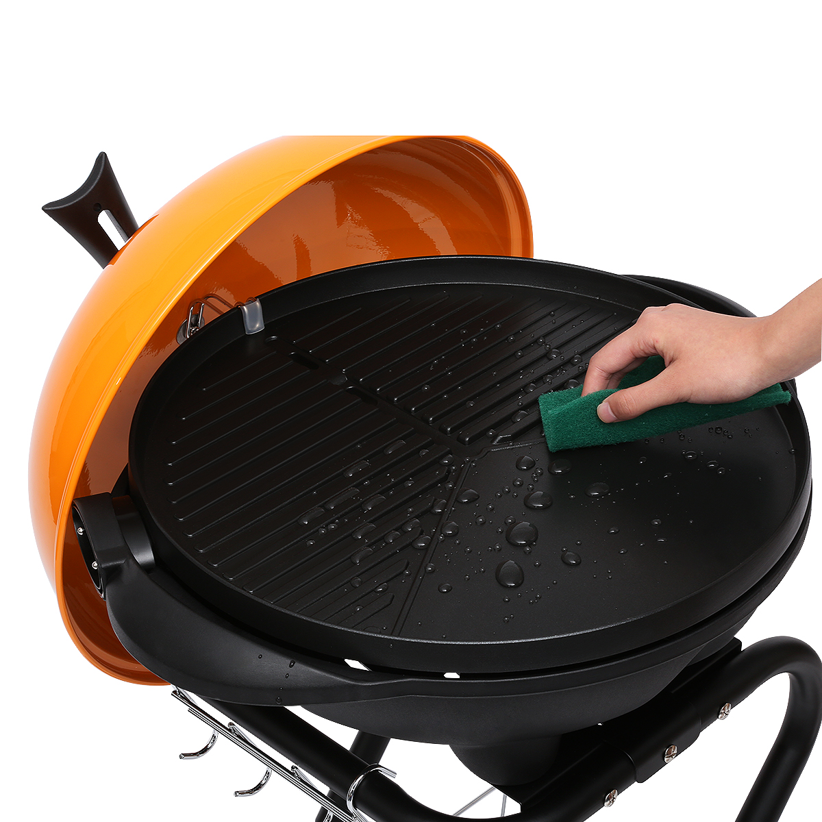 Excelvan Portable 1350W Electric BBQ Grill Easy To Clean, Black    Walmart.com