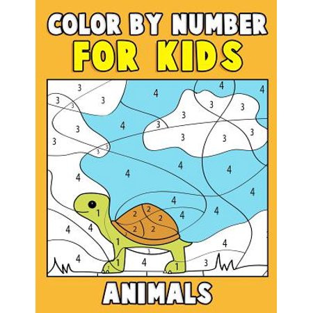 Color by Number for Kids : Animals: Super Cute Kawaii Animals Coloring Book for Kids Ages 4-8 - First Coloring Book for Toddlers Educational Preschool Activity Book