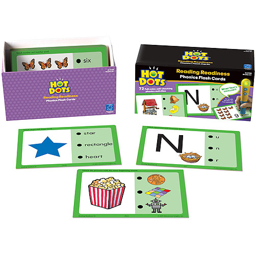 Hot Dots Phonics Flash Cards, Reading Readiness