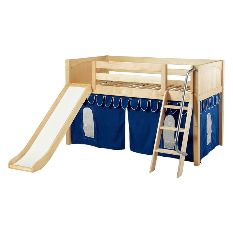 wow boy panel low loft tent bed with slide