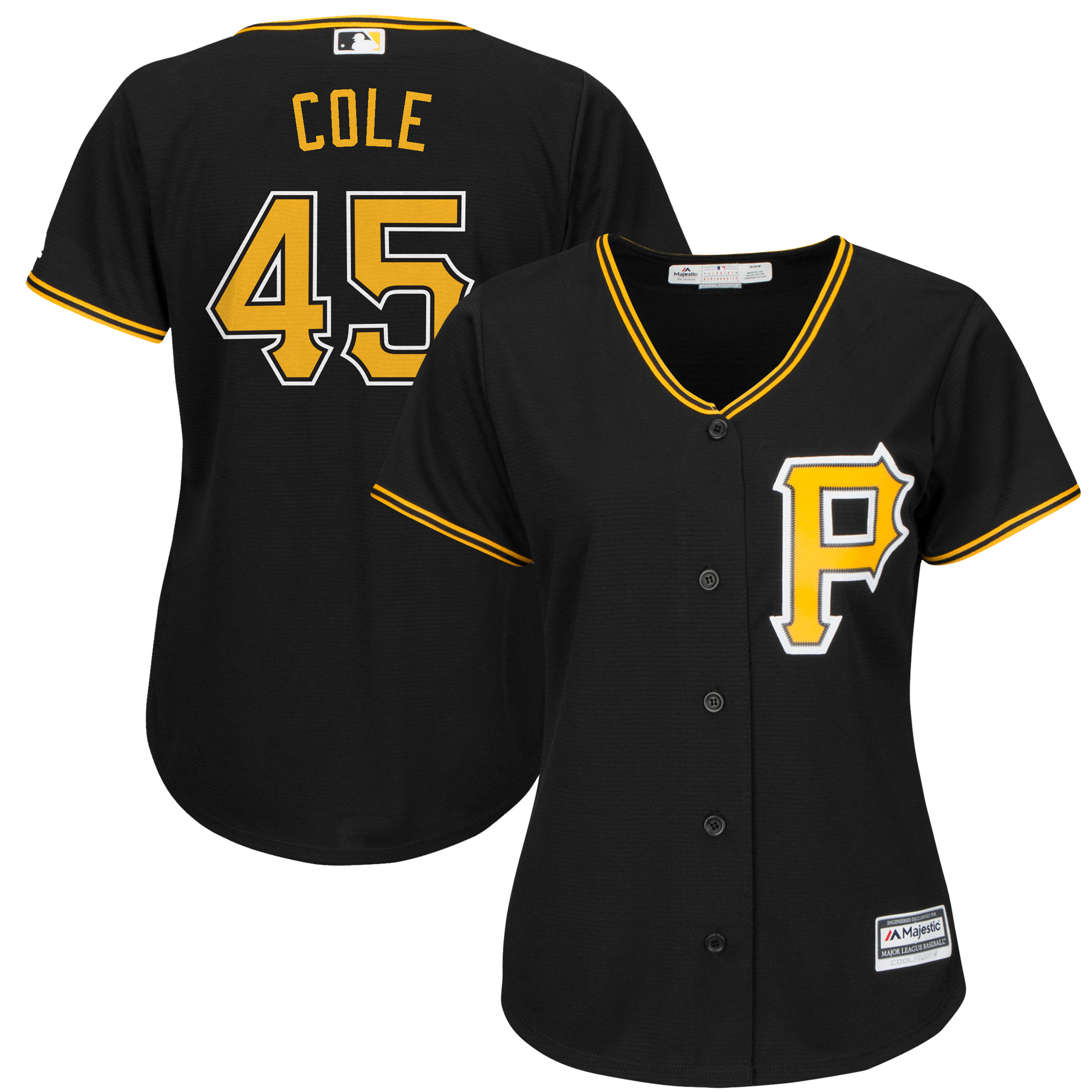 Pittsburgh Pirates Majestic Women's Cool Base Player Jersey - Black