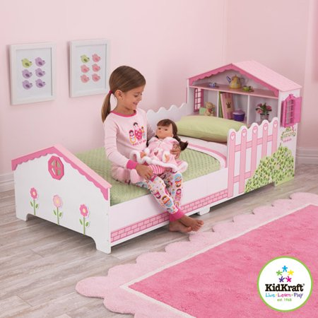 Kidkraft Dollhouse Toddler Bed, White - Walmart.com