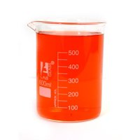 Eisco Labs Beaker - 600mL, Borosilicate Glass, 50mL graduation Low form - Pack of 6