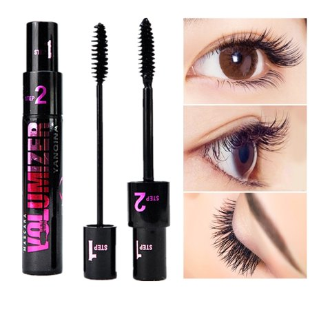 SUPERHOMUSE 1Pc Dual-Use Waterproof Anti-blooming Mascara Long Curling Eyelash Dense Curly Eyelashes