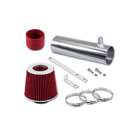 RL Concepts Red Short Ram Air Intake System + Dry Filter 94-96 Buick Roadmaster 4.3L/5.7L V8 (Buick Roadmaster Specs)