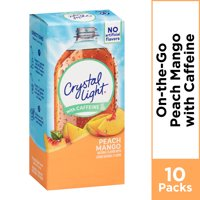 (20 Packets) Crystal Light Peach Mango On-The-Go Powdered Drink Mix, 0.07 oz