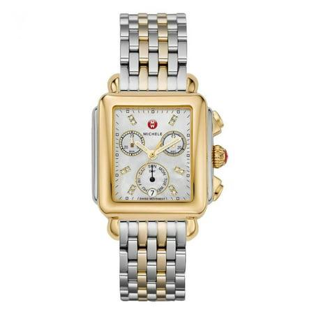 Michele Diamond Dial 122 Two Tone Watch