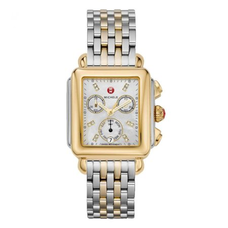 Michele Diamond Dial 122 Two Tone Watch