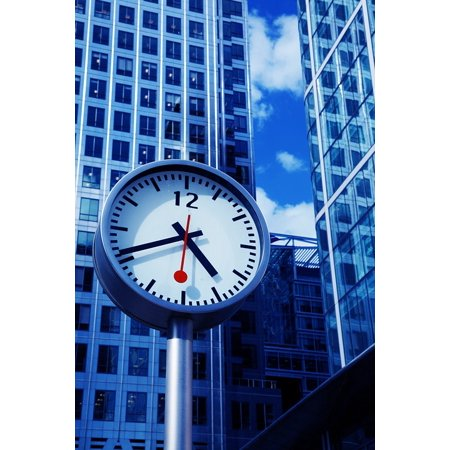 Laminated Poster Architecture Banking City Blue Business Building Poster Print 24 X 36