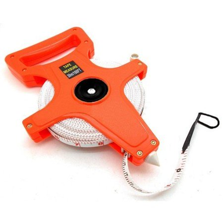 Wideskall 100 Feet Fiberglass Open Core Reel Measuring Tape