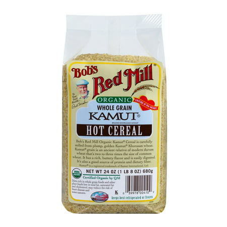 Bobs Red Mill Organic Hot Cereal, Kamut Cereal, 24 Oz Arrowhead Mills Hot Cereal