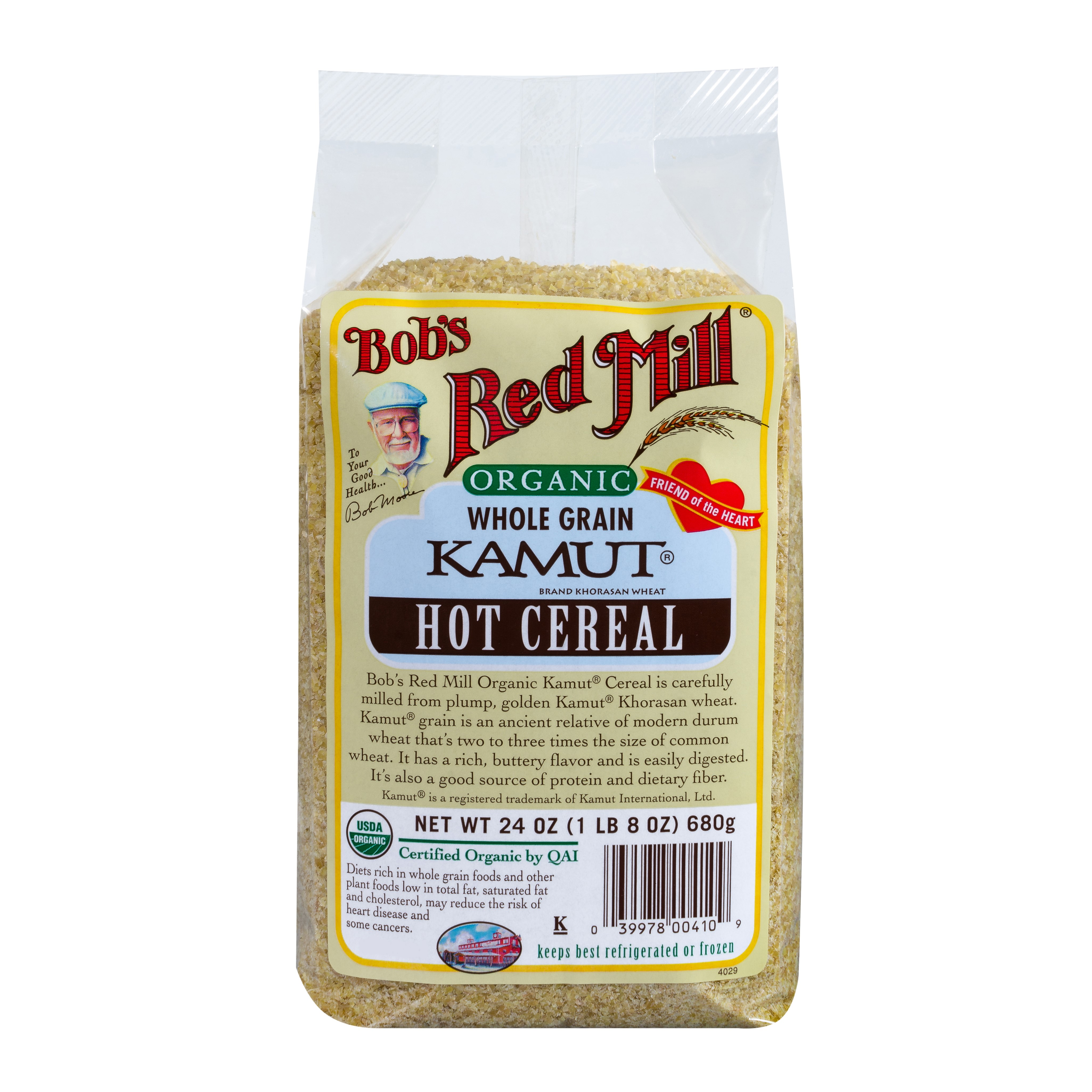 Bobs Red Mill Organic Hot Cereal, Kamut Cereal, 24 Oz