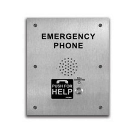 Viking Electronics E-1600-TP-IPEWP VoIP ADA Compliant Stainless Steel Emergency Phone for Talk-A-Phone